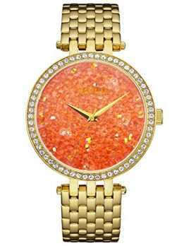 Caravelle New York Uhren | damenuhr orange | armbanduhr mit orangenem ziffernblatt