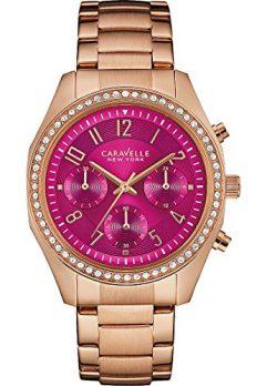Caravelle New York Uhren | damenuhr pink | pinkenes Ziffernblatt damenarmbanduhr | damenuhr rose-pink