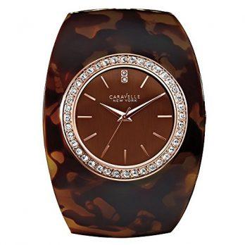 Caravelle New York Uhren | armbanduhr damen mit braunem Armreif | braunes armreif und uhr | damenuhr braun | armbanduhr mit braunem ziffernblatt
