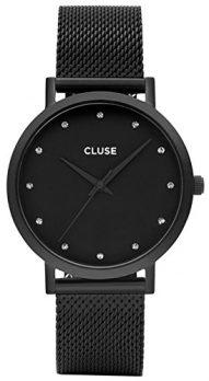 Cluse Uhr | Damenuhr schwarz | Schwarze damenarmbanduhr