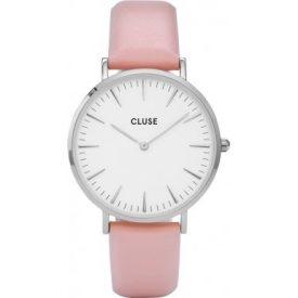 Damenuhr pink Leder   Cluse Uhr   pink leder armbanduhr
