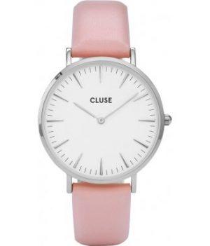 Damenuhr pink Leder | Cluse Uhr | pink leder armbanduhr