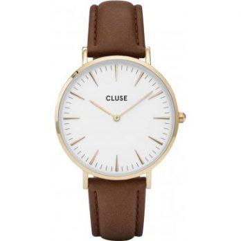 Cluse Uhr | Leder Armbanduhr | braune lederuhr