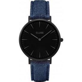 Cluse Uhr   blaue armbanduhr   armbanduhr schwarz blau