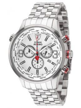 Detomaso Uhr | Chronographen Uhr | Armbanduhr silber-weiß