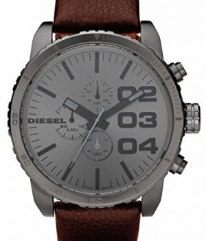 Diesel uhr   Herrenuhr Diesel   Armbanduhr Herren mit braunem Lederband
