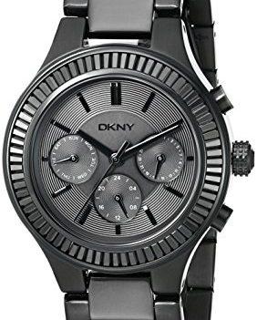 DKNY Uhr | Damenuhr schwarz | Schwarze Armbanduhr | Armbannduhr mit schwarzem Ziffernblatt