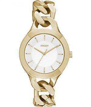 DKNY uhr | Damenuhr DKNY | Edelstahl Armbanduhr Damen | Uhrbandfarbe Gold