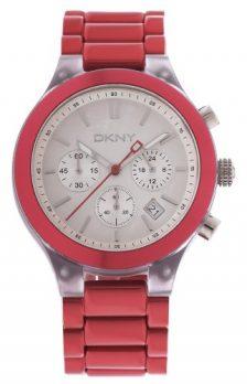 DKNY Uhr | Damenuhr DKNY | Rote Armbanduhr Damen | Chronograph Armbanduhr Damen Rot |