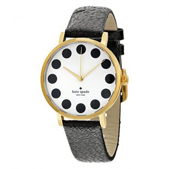 Kate Spade | Armbanduhr Kate Spade | Damenuhr Kate Spade | schwarze Ledearmbanduhr damen