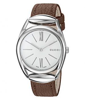 Gucci Uhr | Damenuhr Gucci | Damenuhr mit braunem Lederband