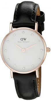 Daniel Wellington Uhr | Leder Schwarz armbanduhr |  armbanduhr mit schwarzem Lederband