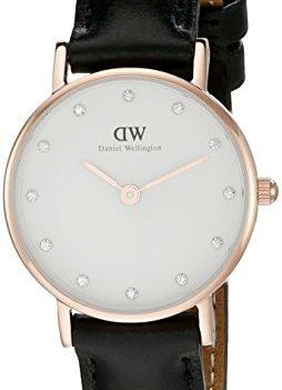 Daniel Wellington Uhr   Leder Schwarz armbanduhr   armbanduhr mit schwarzem Lederband
