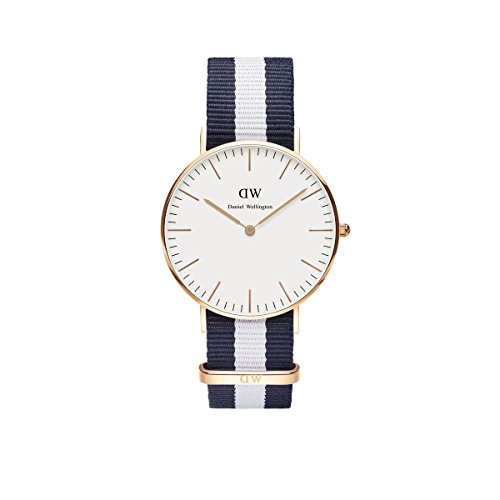 daniel wellington uhr classic glasgow nato blau wei damen. Black Bedroom Furniture Sets. Home Design Ideas