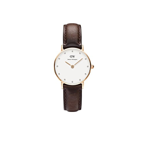 daniel wellington uhr classy bristol leder rotbraun damen. Black Bedroom Furniture Sets. Home Design Ideas