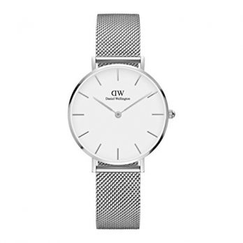 Daniel Wellington Uhr | Edelstahl armbanduhr | erwachsene armbanduhr | armbanduhr mit weißem Ziffernblatt