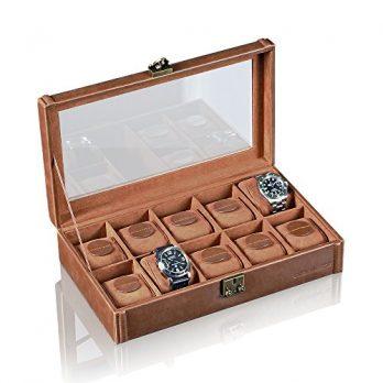 Uhrenbox | Aufbewahungsbox für Uhren | Leder Uhrenbox
