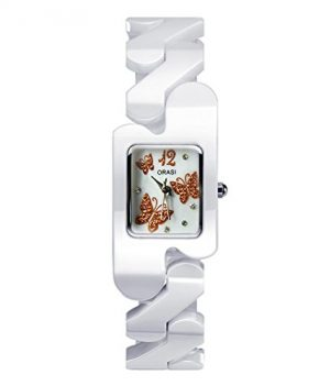 kermaikuhr   weiße keramik armbanduhr   damen weiße armbanduhr