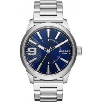 Diesel Uhr | Herrenuhr Diesel | Edelstahl Herrenuhr mit blauemZiffernblatt | Silber Blau Armbanduhr