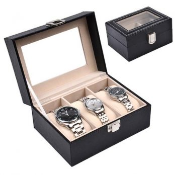 Uhrenbox | Aufbewahungsbox für Uhren | Rosa Uhrenbox