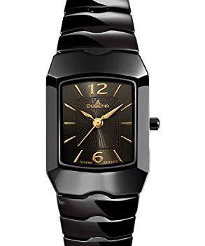 Dugena Uhr | Damenuhr Dugena | Schwarze Armbanduhr Damen | Damenuhr schwarz