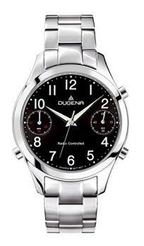 Dugena Uhr | herrenuhr Dugena | Chronographenuhr Edelstahl | Armbanduhr mit schwarzem Ziffernblatt