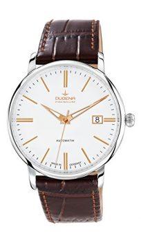 Dugena Uhr | herenuhr Dugena  | Armbanduhr Automatik Leder braun | Braune Leder arrmbanduhr | automatikuhr