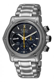 Ebel Uhr | Herrenuhr Ebel | chronographen Uhr mit schwarzem Ziffernblatt