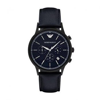 Emporio Armani Uhr | herrenuhr Emporio Armani | dunkelblaue herrenuhr | blaue armbanduhr heren | armbanduhr für herren mit blauem lederband