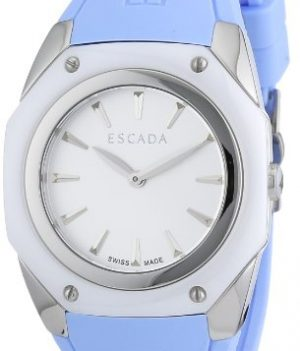 Escada Uhr | Damenuhr Escada | Blaue Armbanduhr | Armbanduhr Silikon Blau | Damenuhr mit blauem silikonband
