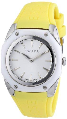 Escada Uhr | Damenuhr Escada | Gelbe Armbanduhr | Damenuhr gelb | silikonarmbanduhr