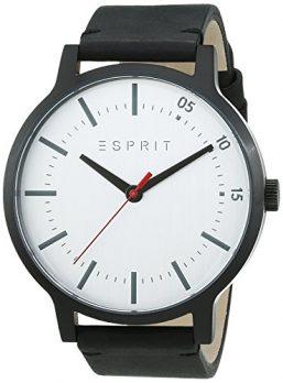 Esprit Uhr | Damenuhr Esprit | Schwarze Damenuhr | Armbanduhr damen mit schwarzem Lederarmband