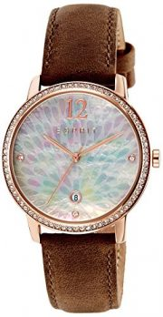 Esprit Uhr | Damenuhr Esprit | Damenuhr mit braunem Lederband