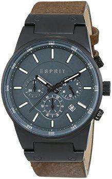 Esprit Uhr | Herrenuhr Esprit | Herrenuhr mit Lederarmband | XL Uhr Herren