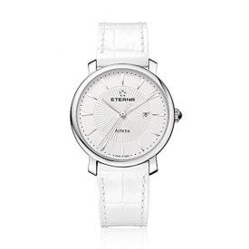 Eterna Uhr   Damenuhr Eterna   Weiße Damenuhr   weiße Damenuhr mit weißem Lederarmband   damenuhr mit weißem Lederarmband