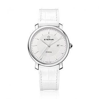 Eterna Uhr | Damenuhr Eterna | Weiße Damenuhr | weiße Damenuhr mit weißem Lederarmband | damenuhr mit weißem Lederarmband