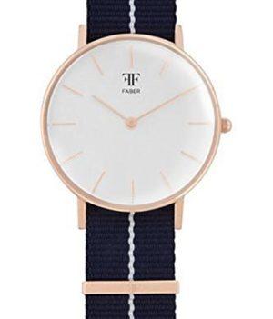 Faber Uhr | Damenuhr Faber | Armbanduhr damen mit nylonband