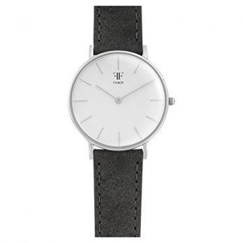 Faber Uhr | Damenuhr mit Lederarmband