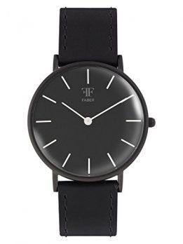 Faber Uhr | Herrenuhr Faber | Schwarze Armbanduhr  | Herrenuhr schwarz