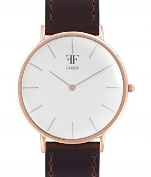 Faber Uhr | Herrenuhr Faber | Herrenuhr mit Lederband