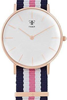 Faber Uhr | armbanduhr Faber Damen | Damenuhr mit Nylonband
