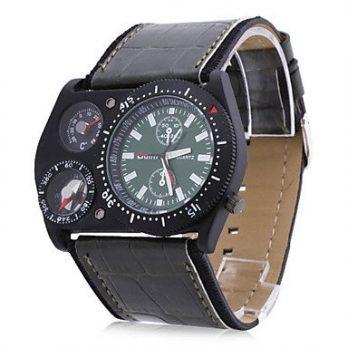 armbanduhr schwarz mit lederarmband