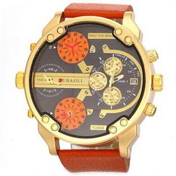 militäruhr | quarzuhr herren | schwarz-weiß orange armbanduhr