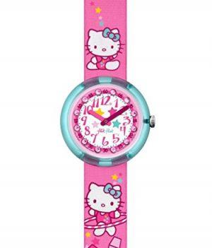 Flik Flak Uhr | Armbanduhr Hello Kitty | Mädchenuhr | Pink Armbanduhr | Armbanduhr Hello Kitty