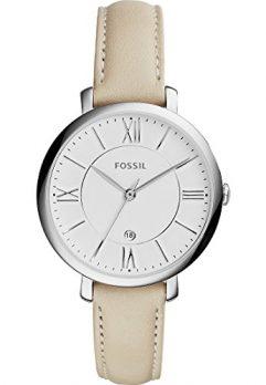 Fossil Uhr | Armbanduhr Fossil Damen | Damenuhr | Lederarmband Hell damenuhr