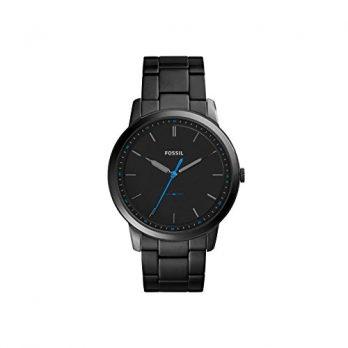 Fossil Uhr | Herrenuhr Fossil | Schwarze Herrenuhr | Herrenuhr mit blauem Sekundenzeiger