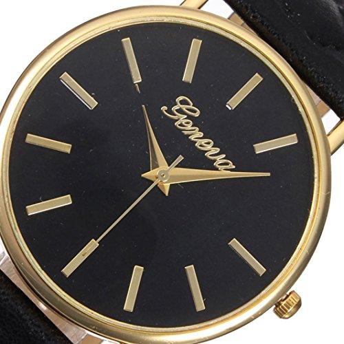 franterd damen armbanduhr elegant uhr modisch zeitloses design klassisch leder r mische ziffern. Black Bedroom Furniture Sets. Home Design Ideas