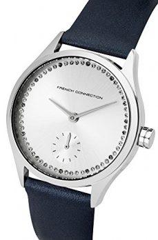 French Connection Uhr   Damenuhr French Connection   Damenuhr mit blauem Lederband