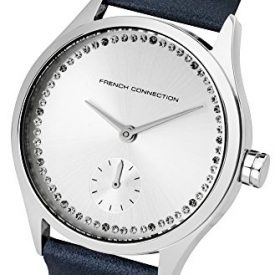 French Connection Uhr | Damenuhr French Connection | Damenuhr mit blauem Lederband