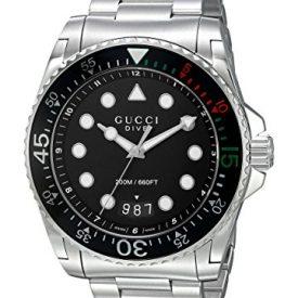 Gucci Uhr | Armbanduhr mit schwarzem Ziffernblatt